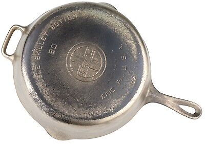 Vintage Griswold No 90 (1021) Cast Iron Double Skillet Bottom Restored Condition