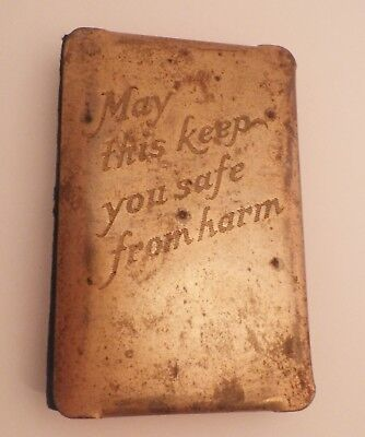 WWII Vintage New Testament with Heart Shield May This Keep You Safe From Harm