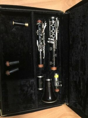 Vtg Selmer Paris Series 10 Wood Clarinet & Case Serviced with New Pads & Cork