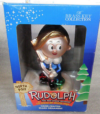 Rudolph and the Island of Misfit Toys ~ HERMEY ~ Elf Dentist Glass Ornament