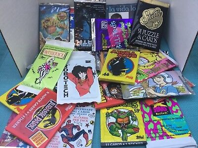 VINTAGE Trading Cards Lot ALL FACTORY SEALED 80s-90s 27 Packs!