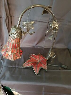 Stained Glass Red Glass Stained Glass Lamp Leaf Stand