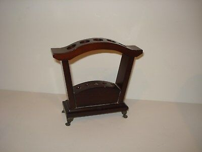 BOMBAY & CO Cherry FOUNTAIN PEN HOLDER wood  CLAW FOOTED