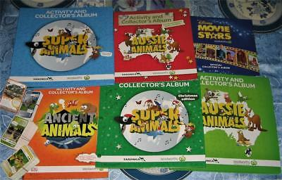 Bulk Woolworths Ancient Aussie Super Animals And Movie Collector Albums & Cards