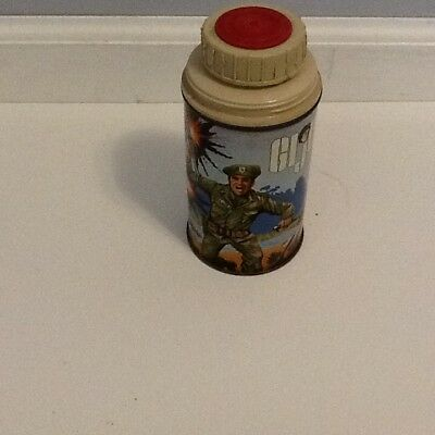 vintage gi joe metal lunch box thermos from the late 60's
