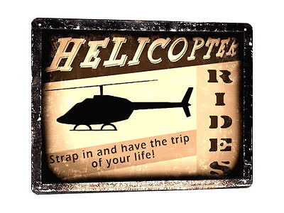 HELICOPTER METAL sign boy MANCAVE funny great gift vintage style wall decor 201
