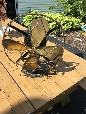 Antique Westinghouse style 162628A  Brass Tank Electric Fan PAT 1906 WORKS
