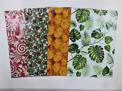 100 Leaves Pumpkin Christmas 10x13 Designer Mailers Poly Shipping Fall Bags