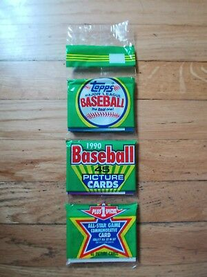 1990 Topps Unopened Baseball Card Grocery Pack