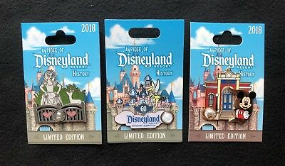 A Piece Of Disneyland History Pins: Snow Whites Grotto, 60th Castle & Firehouse