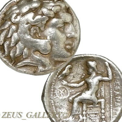 ALEXANDER the GREAT Very RARE!! Herakles Ancient Greek Silver Tetradrachm Coin