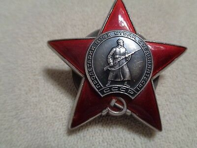 Russian Ussr Soviet Order Of The Red Star Medal Badge Wwii #3287796
