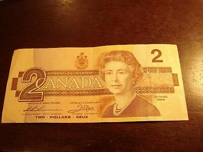 1986 - Canada - $2 note - Canadian two dollar - BRV1702395