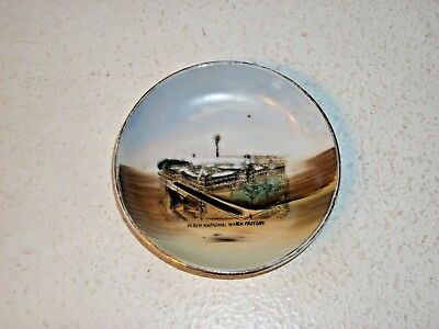 Elgin IL National Watch Factory Souvenir Pin Dish Wheelock China Circa 1910s