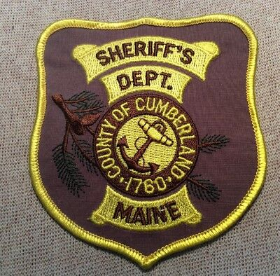 ME Cumberland County Maine Sheriff Patch