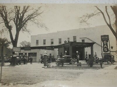 Old Gas Station Photograph with Old Pumps Alemite Valveline Oil