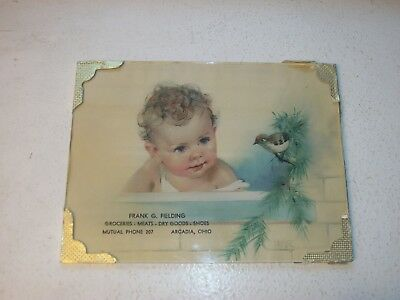 Frank G. Fielding Grocery Store Advertisement Frame Arcadia Ohio OH Circa 1930s