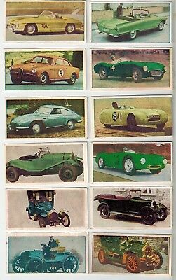 Universal Confectionery - Automobile Series 1&2 - 12 Collector Cards