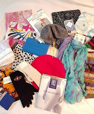 Mixed Lot Women's/junior's Mixed Fashions Accessories Scarf Socks Purse     5