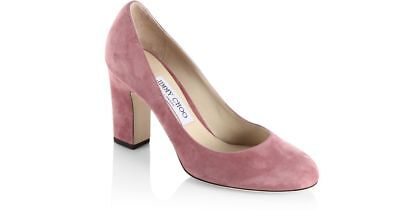 New with Box-Jimmy Choo Billie 85 Suede Pump Rose Pink Size 37