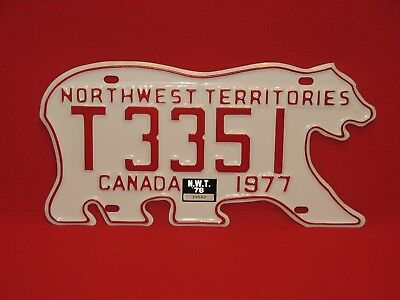 1977 Northwest Territories License Plate - MINT!! - NO RESERVE!!