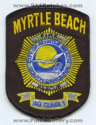 Myrtle Beach Fire Rescue Department Patch South Carolina Sc Iso 1 Used 4.75 In