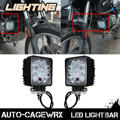 For 2009-2016 BMW G650GS 4inch LED Work Light Fog Lamp Motorcycle Headlight 3""