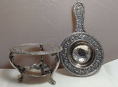 Special Stunning Tea Strainer And Holder 143.1 Grams
