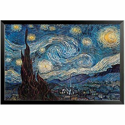 Buy Art For Less 'Starry Night' by Vincent Van Gogh Framed Painting Print