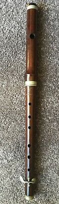 1880-1920 Antique Fife - Flute - Pipe - Beautiful Rosewood and Nickel-Silver
