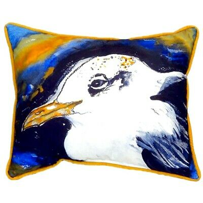 Betsy Drake Interiors Gull Portrait Left Indoor/Outdoor Lumbar Pillow