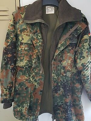 German Army Flecktarn Smock Jacket Vintage Retro