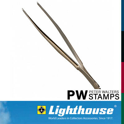 Lighthouse Stamp Tweezers / Tongs 12cm Straight Pointed Tip with Sleeve