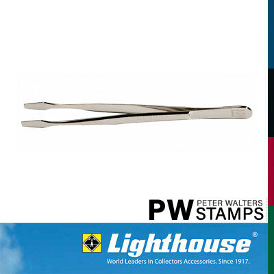 Lighthouse Stamp Tweezers / Tongs 12cm Straight Spade Tip with Sleeve