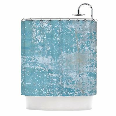 East Urban Home 'Galvanized Blue' Vintage Single Shower Curtain