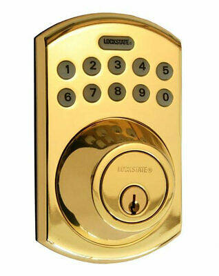 LockState Single Cylinder Keyless Electronic Deadbolt with Remote