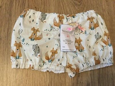 New handmade floral grace Baby Girl Fox cactus Cute bloomer shorts 18-24 Months