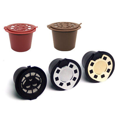 4x Refillable Reusable Coffee Capsules Pods For Nespresso Machines Spoon FL