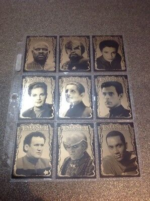 Skybox - Star Trek DS 9 Deep Space Nine 1997 - Latinum Profiles Insert Set (9)