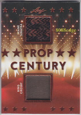 2018 Pop Century Dual Swatch: Frank Sinatra/bing Crosby #pc2-11 Worn Wardrobe