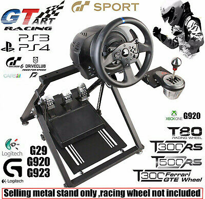 "NEW ""X"" FRAME GT ART Racing Simulator Steering Wheel Stand  G29 G920 T300RS T150"