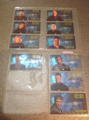 Star Trek First Contact Character Spectra Foil Chase Card SkyBox Set Of 10 1999