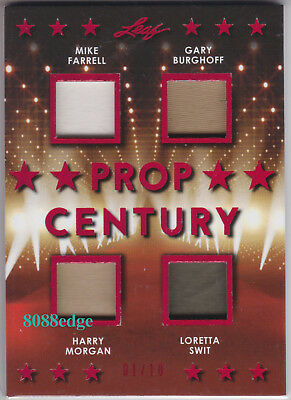 2018 Pop Century Quad Worn Swatch #pc4-01: Farrell/burghoff/morgan/swit #1/10