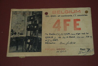 Early Belgium QSL 4FE Postcard from 1929