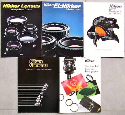 Nikon Photographic Brochures. 5 In All  1