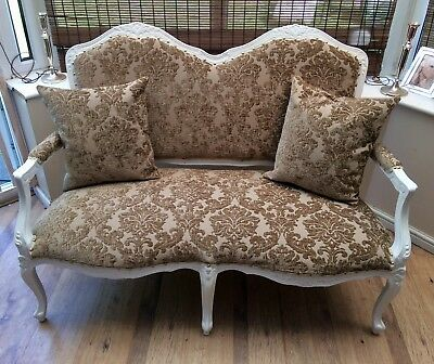French Louis style / shabby chic sofa.