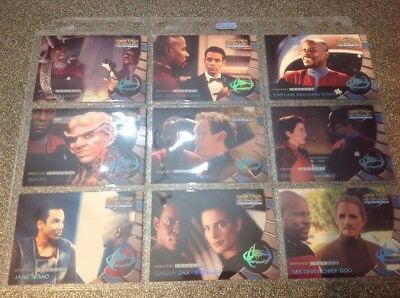 Star Trek Ds9 Memories From The Future Set Of 9 Greatest Legends Cards L1-L9