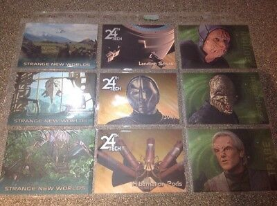 Star Trek Voyager Season 2, 9 Card Foil Set #191 - 199