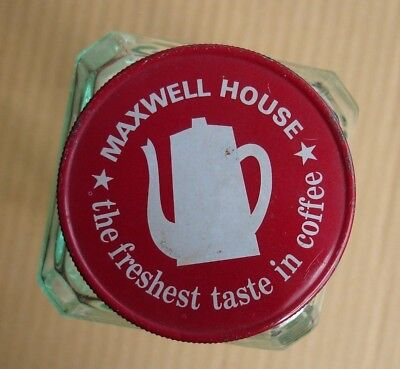 Vintage Maxwell House Coffee Glass Jar