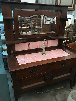Antique Blackwood Sideboard Wash Stand Dressing Table Hall Table
